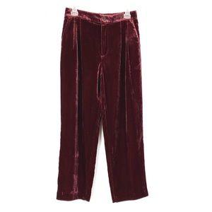 NWT Madewell Velvet Tapered Pleated Pull-On Pants